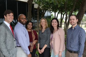 From left to right: Tom Hay, Chris Davis, Anisha Srinivasan, Lori Johnson, Maria Yocom, David Watkins