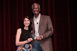 Yasmin Bhatia and Dr. Howard Fuller