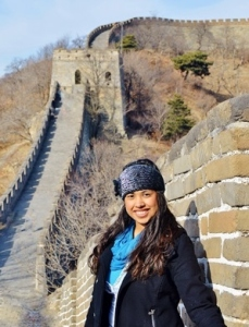Theresa studied abroad in China during her junior year.