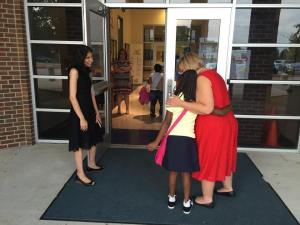 First day of school at Uplift Lee Preparatory in Grand Prairie.