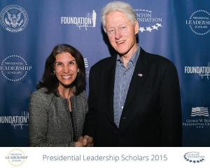 Yasmin Bhatia and former President Bill Clinton