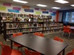 Uplift Hampton Secondary's library is read for books to be checked out.